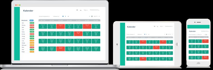 Online Dienstplanung Zeiterfassung und Auswertung auf jedem Gerät von überall mit Papershift