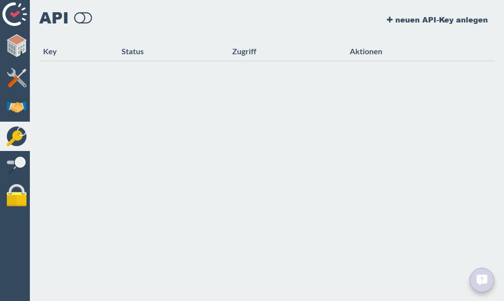 Deaktivierte API-Schnittstelle ohne API-Key