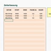 kostenlose Stundenzettel-Excel-Vorlage für die Zeiterfassung