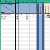 Urlaubsplaner in Excel Tabelle kostenlos download
