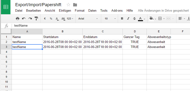 SpreadsheetIntegration