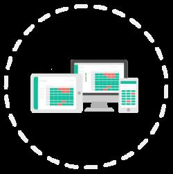 Zeiterfassung auf allen Endgeraeten Browser Tablet Smartphone