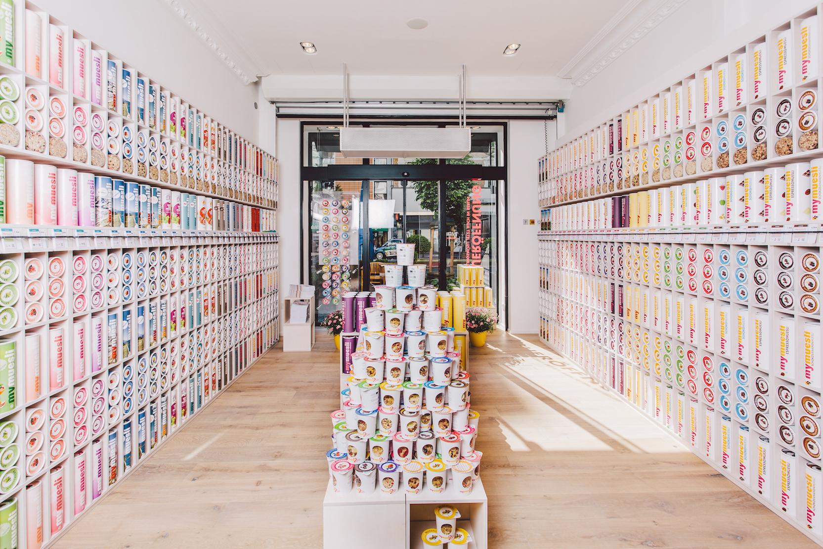 Auswahl im mymuesli Store