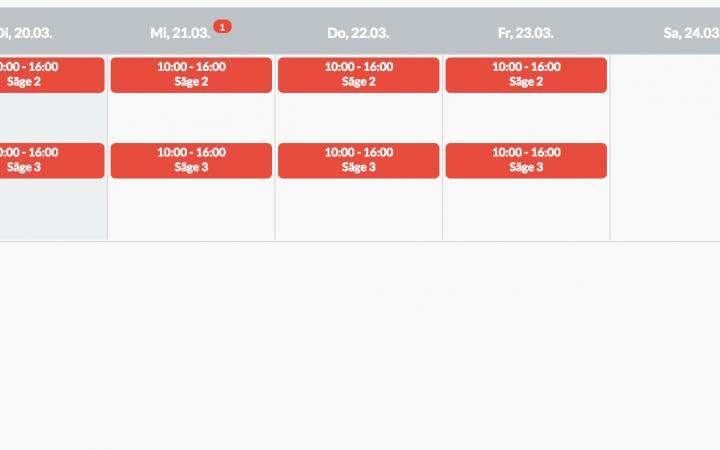 Vorschau Dienstplan Vorlage Produktion Beispiel 2