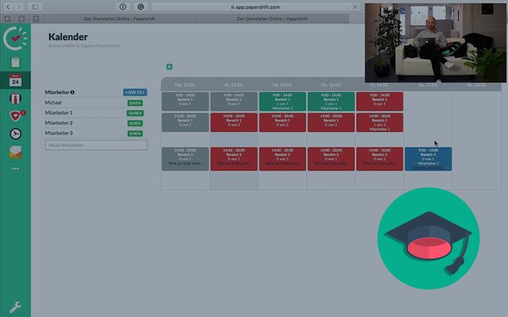 Mit Papershift können Ihre Mitarbeiter eigene Arbeitszeiten festlegen und sich selbst in Ihren Dienstplan eintragen