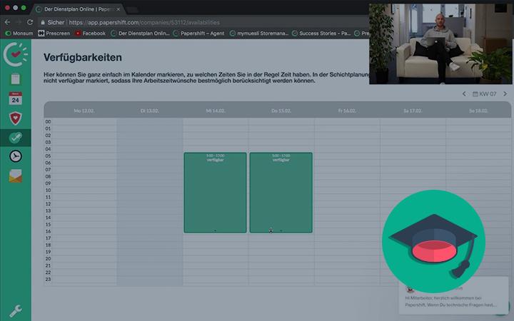 Mit Papershift können Sie die Verfügbarkeiten Ihrer Mitarbeiter einfach in Ihre Dienstplanung integrieren