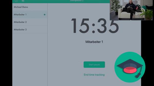 Mit Papershift kannst du aus verschiedenen Zeiterfassungsmethoden wählen, wie z.B. der Stempeluhr-App