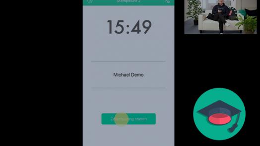 Mit Papershift können Ihre Mitarbeiter Zeiten über die Smartphone-App stempeln