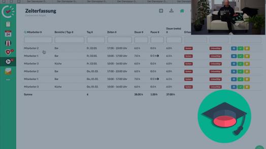 Mit Papershift können Sie Zeiten einfach über den Dienstplan erfassen