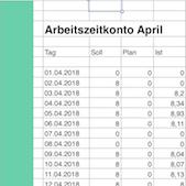 Excel Vorlagen: Arbeitszeitkonto