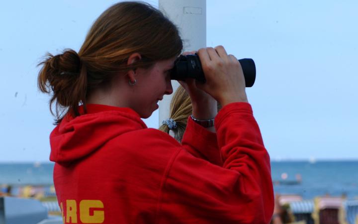 Rettungsschwimmerin der DLRG