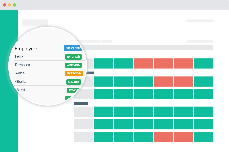 check employee available hours in realtime with Papershift rota scheduling tool