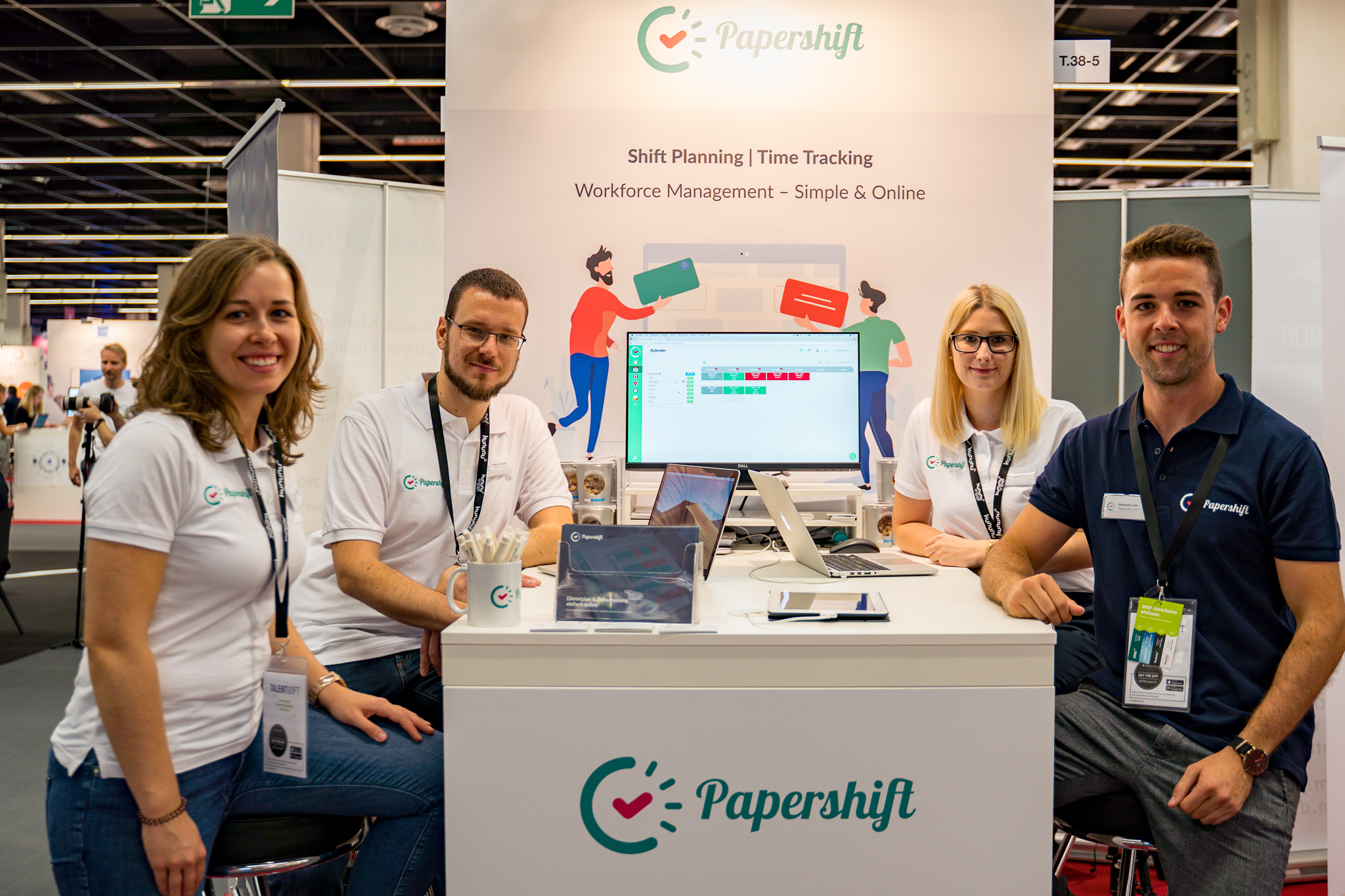 Rockstar Papershift team at the ZPE 2019