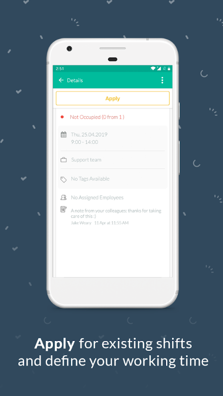 Plan app apply for shifts
