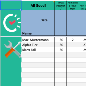 Employee Leave & Absence Planner Free Excel Template from Papershift. Download Free.
