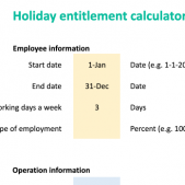 Employee annual leave and holiday entitlement calculator free download