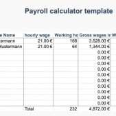 Employee payroll calculator free excel template from Papershift