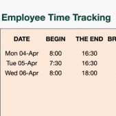 Employee clock in and out, time tracking free excel template from Papershift