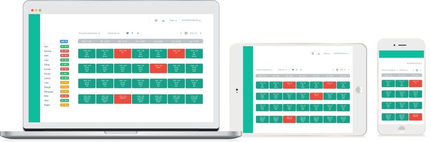 Rota app for Shift Planners to make schedules from their smartphone and tablet