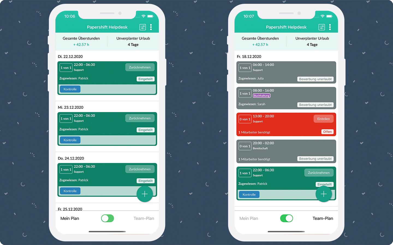 Das neue Design der Plan App sorgt für mehr Übersichtlichkeit