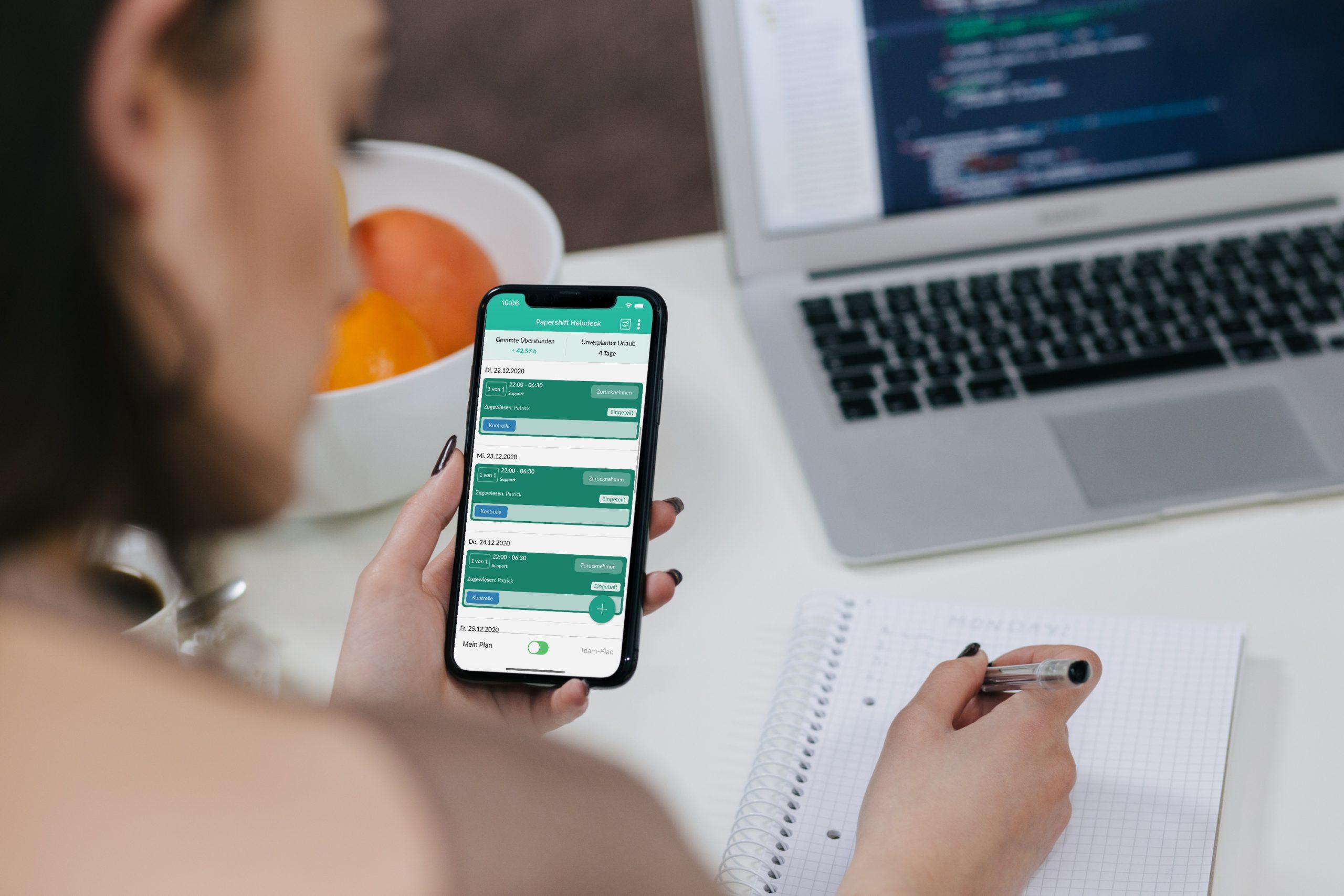 Plan App: Neues Design der Schichten