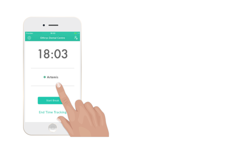clock and timesheet calculator from a smartphone