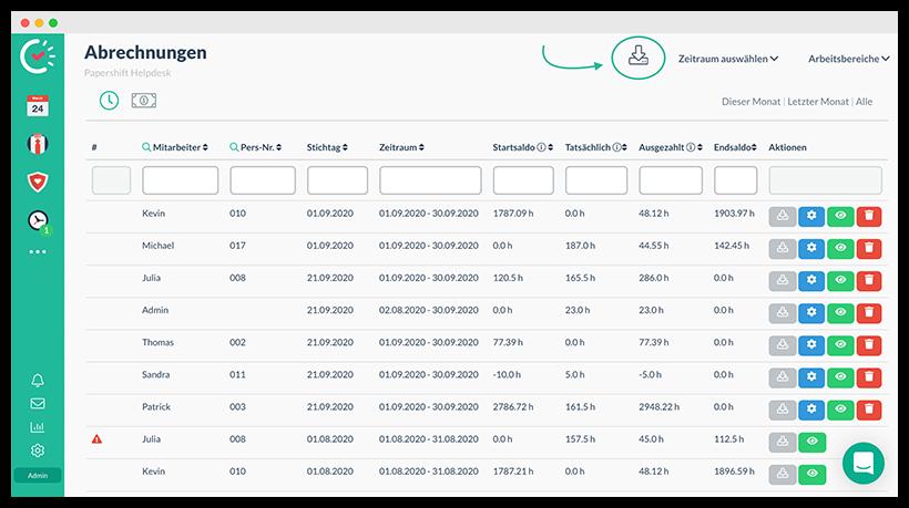 Lohnabrechnung in der Logistik_Datenexport