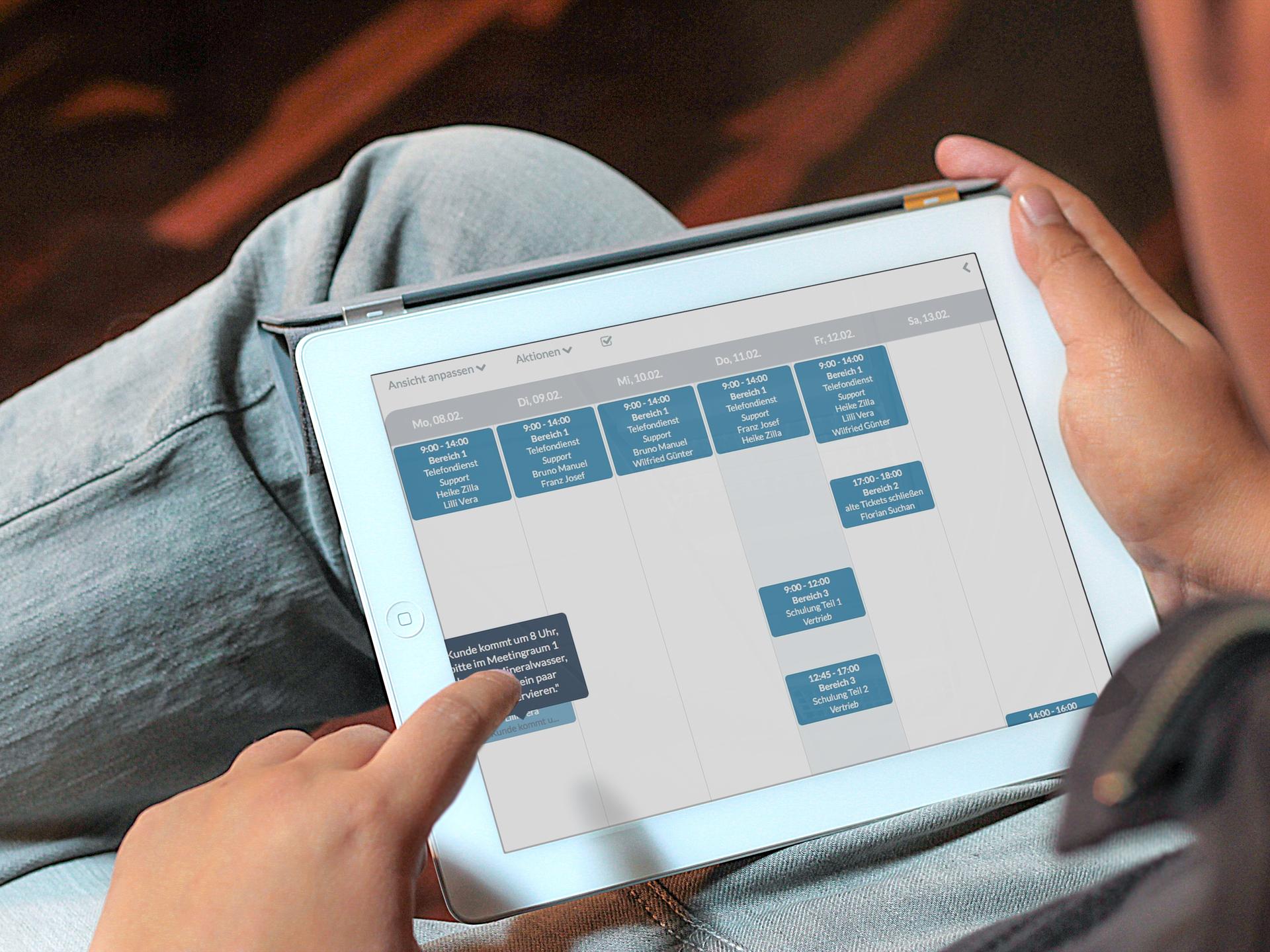 Aufgabenmanagement im Papershift Dienstplan