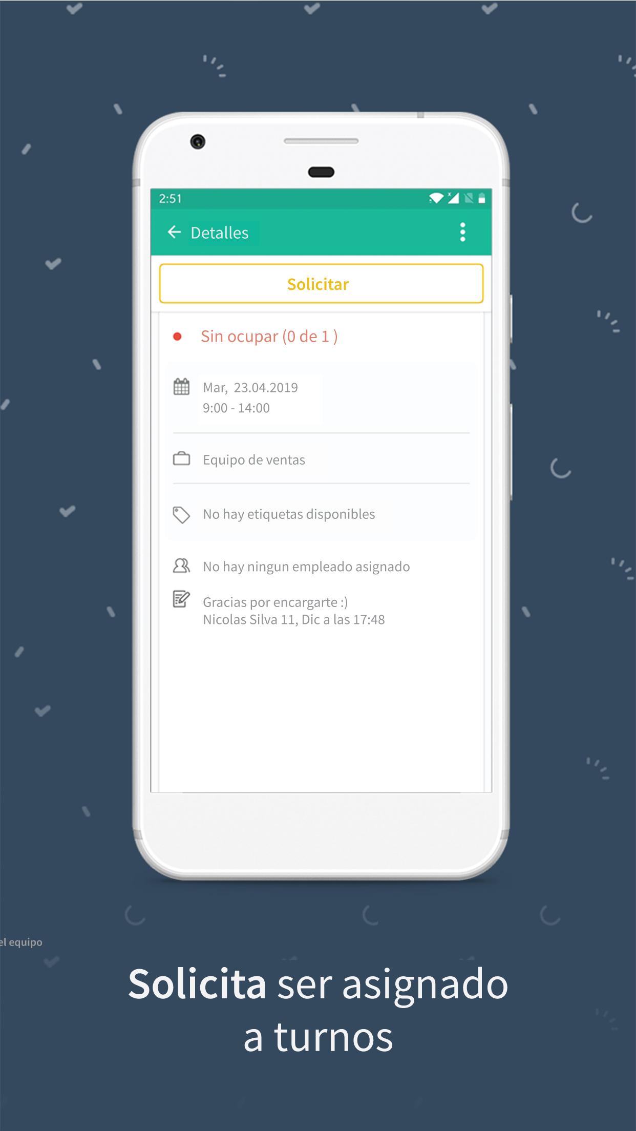 Papershift app para moviles